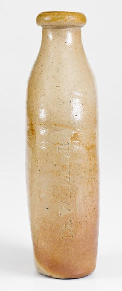 Rare Salt-Glazed Stoneware DR. WALKER Flask - 2