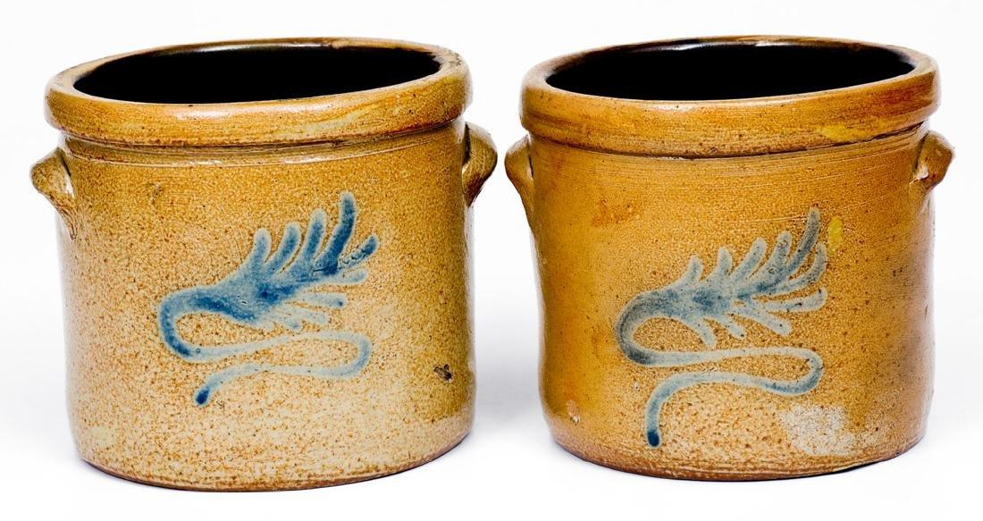 Fine Pair of Miniature Stoneware Crocks att. Nathan - 2