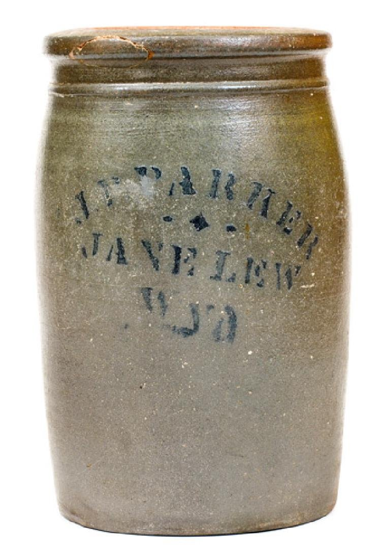 J.P. PARKER / JANE LEW / W VA Stoneware Jar