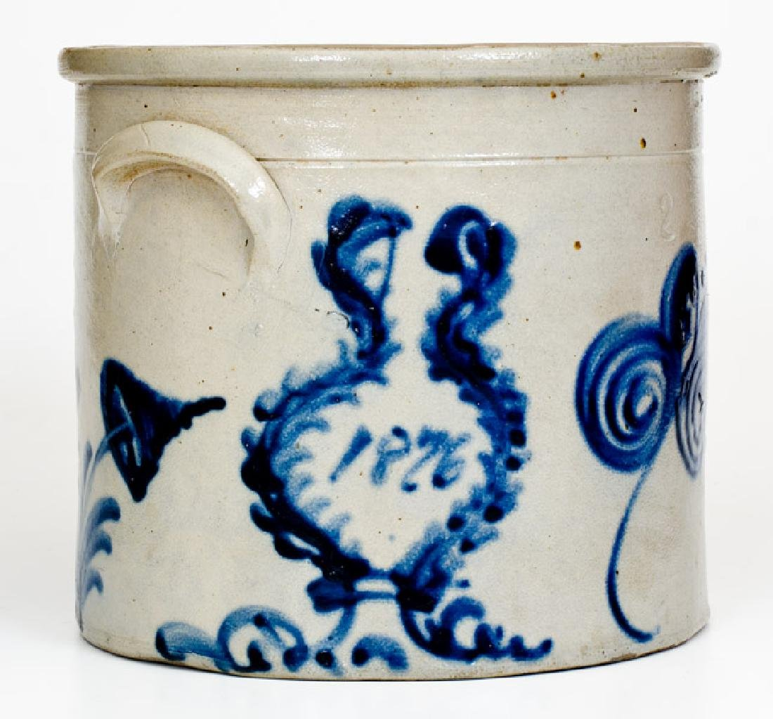 Rare Two-Gallon 1876 Stoneware Crock, possibly Frank B.