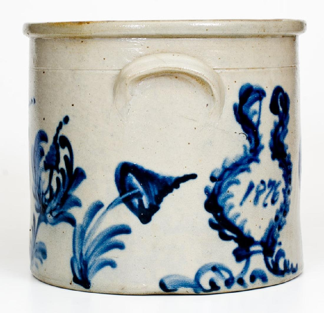 Rare Two-Gallon 1876 Stoneware Crock, possibly Frank B. - 2