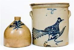 Lot of Two: Northeastern U.S. Stoneware Vessels