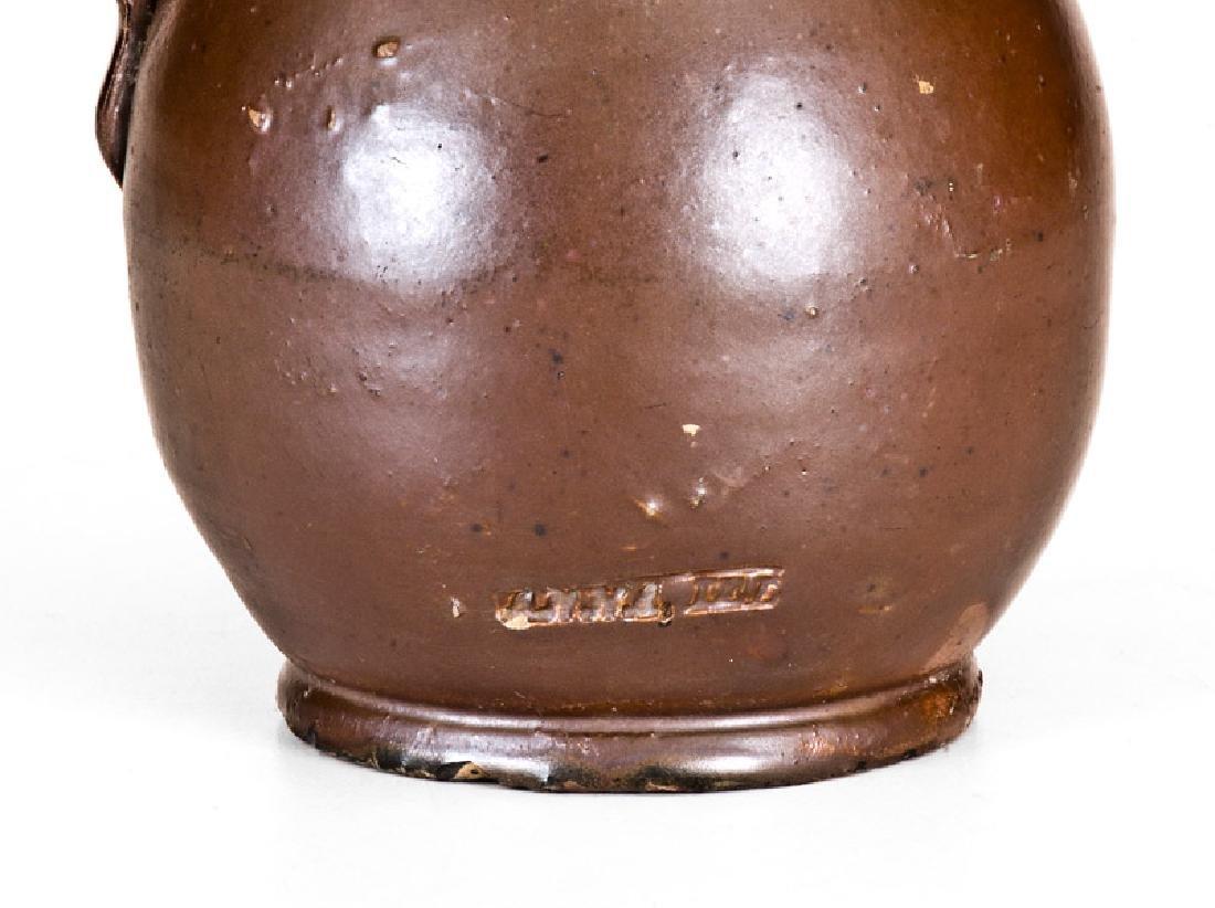 "Anna Pottery Little Brown Jug Stamped ""ANNA, ILL."" - 5"