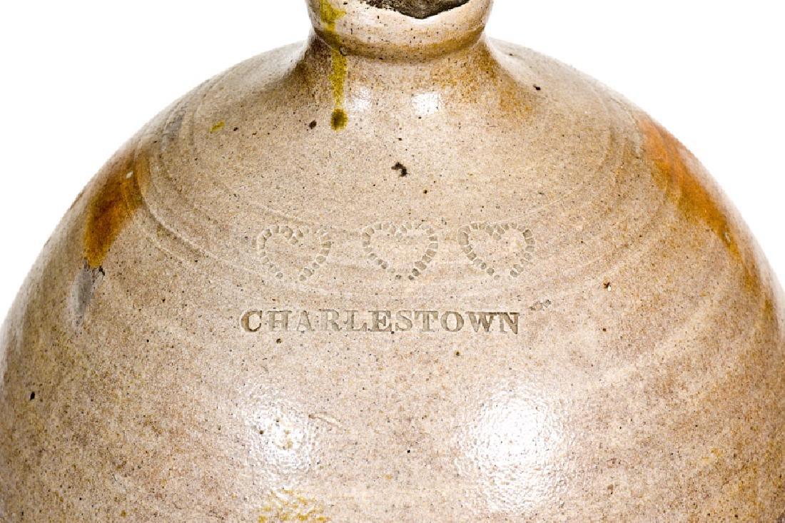 3 Gal. CHARLESTOWN Stoneware Jug with Hearts Decoration - 4