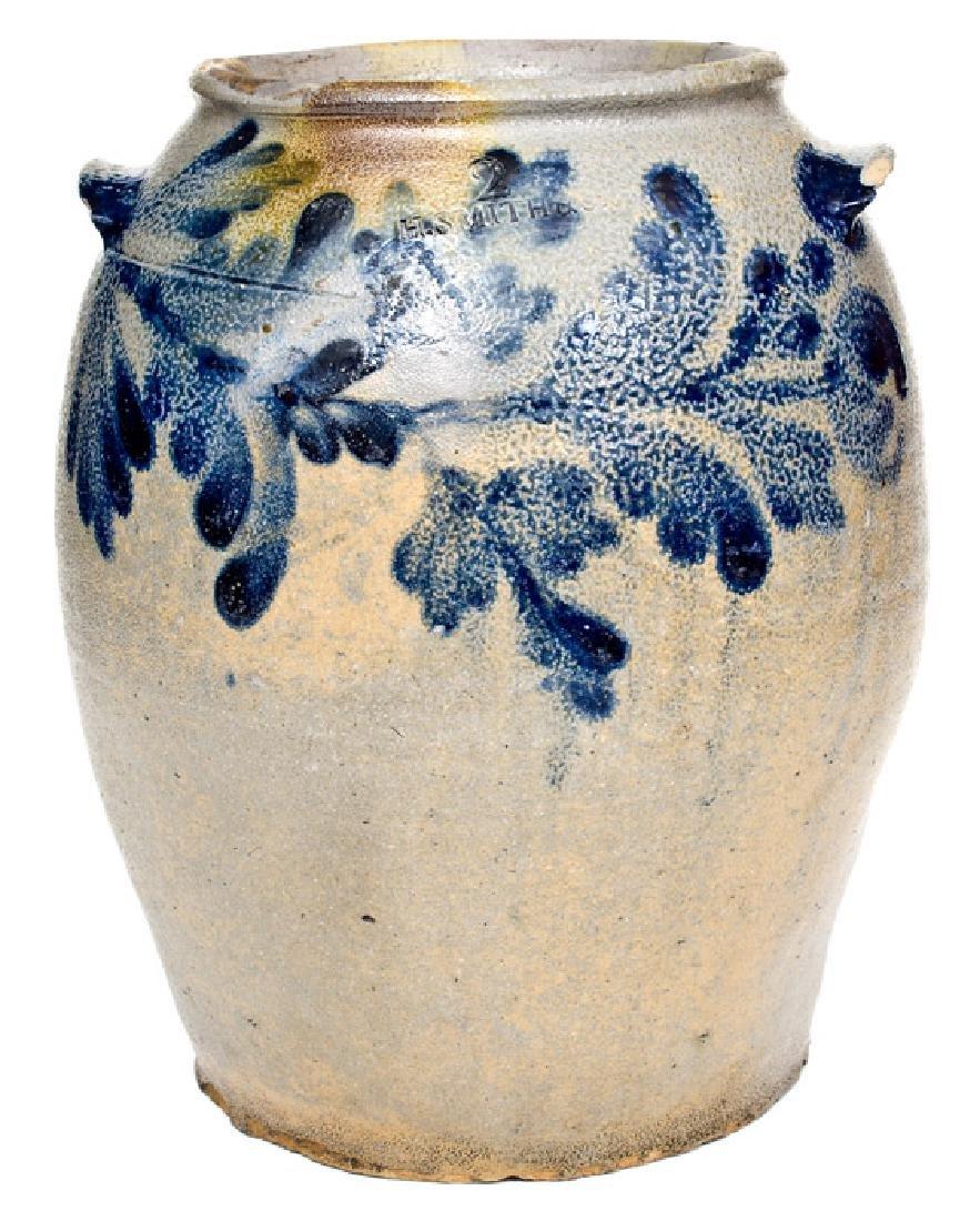 2 Gal. H. SMITH & CO. / ALEXA. / D.C. Stoneware Jar w/