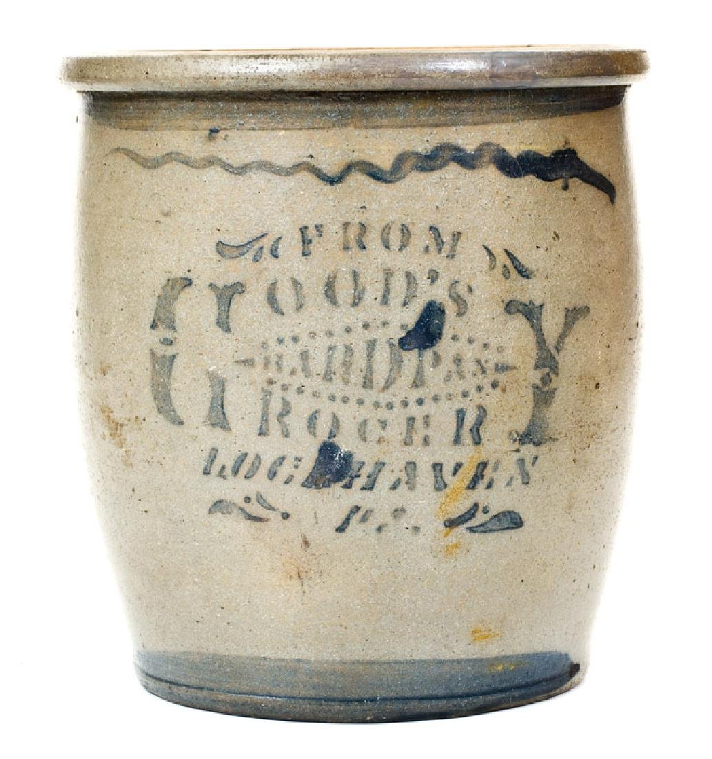 Rare LOCH HAVEN, PA Stoneware Advertising Jar,