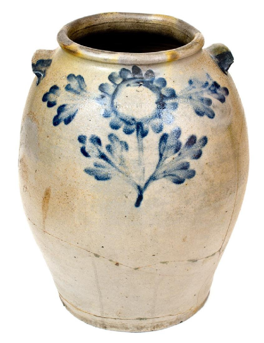 3 Gal. H. SMITH & CO., Alexandria, VA, Stoneware Jar