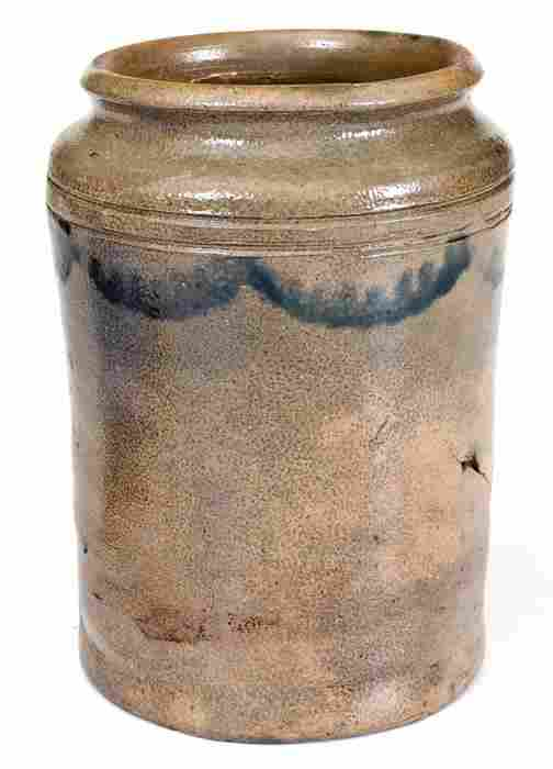 Small-Sized Early Stoneware Canning Jar, probably