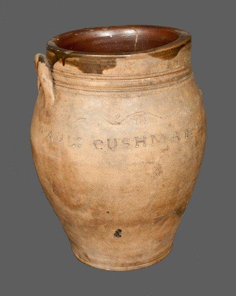 PAUL CUSHMAN (Albany, New York) Stoneware Crock with Co