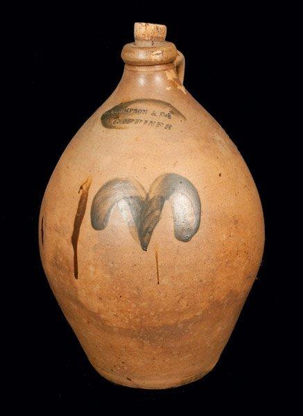 THOMPSON & CO. / GARDINER, ME Ovoid Stoneware Jug with