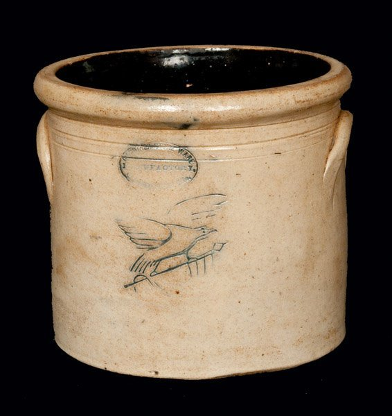 Gardiner, ME Stoneware Crock with Impressed Eagle
