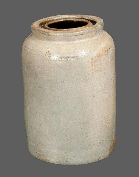 Stoneware Canning Jar Impressed JOHN BELL