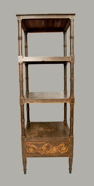 Fine Classical Paint-decorated Etagere, Baltimore, c182