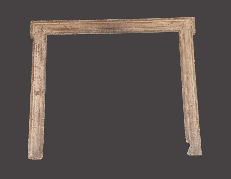 Early Fireplace Mantle in Gray Milkpaint