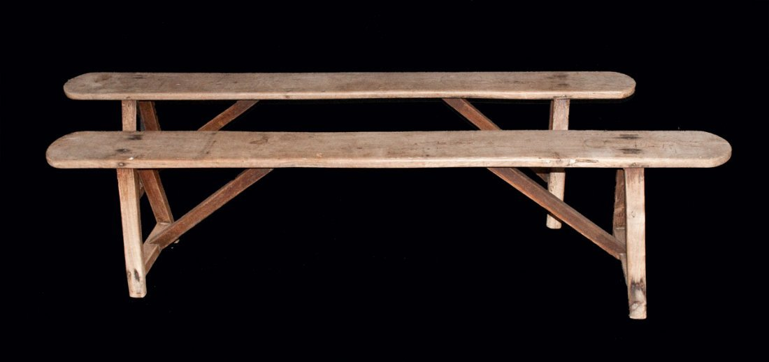 Pair of Early School or Church Benches, found near Sali
