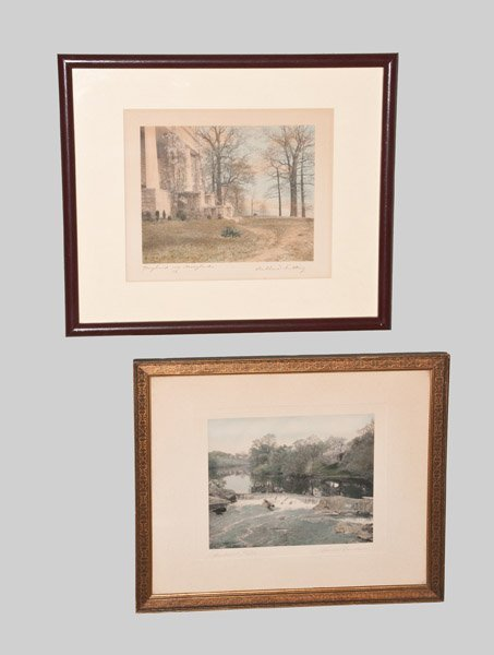 Lot of Two: Hand-Colored Photographs, Wallace Nutting a