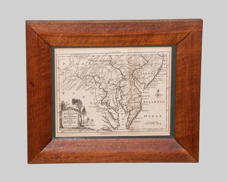 Rare Framed Map of Maryland, 1756