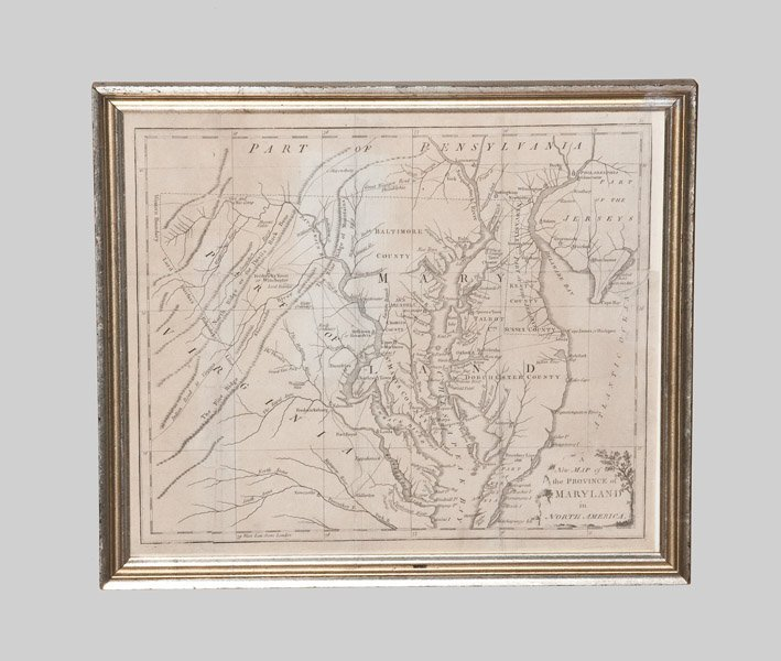 Framed A New Map of the Province of Maryland in North A