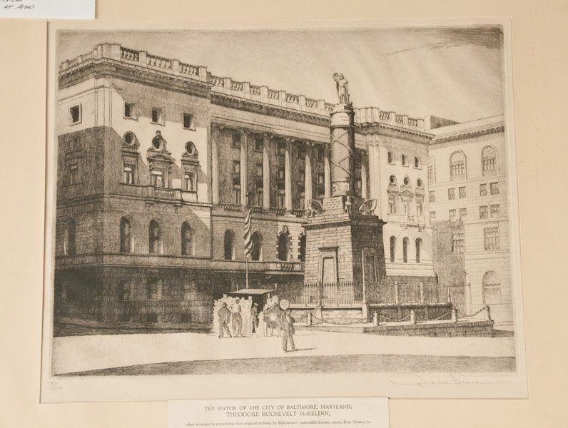 Don Swann Battle Monument and Courthouse Etching