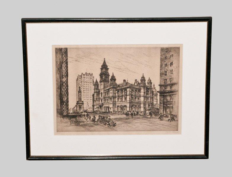 """The Post Office, Baltimore,"" Anton Joseph Schutz Limit"