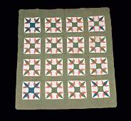 Two Pieced and Appliqued Cotton Quilts