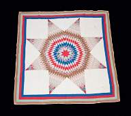 Two Star-Patterned Quilts, American, 19th and 20th cent