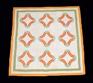 Two Pieced and Appliqued Cotton Quilts American 19th