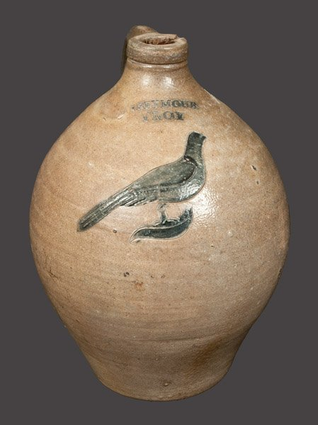 1 Gal. I. SEYMOUR / TROY Stoneware Jug with Incised