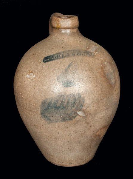 N. WHITE / UTICA Stoneware Jug