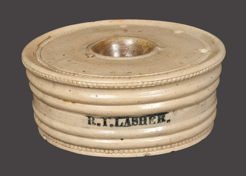 Presentation Stoneware Inkwell attrib. Nathan Clark,
