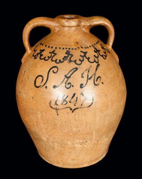 Monumental Stoneware Presentation Jug Inscribed S.A.H.