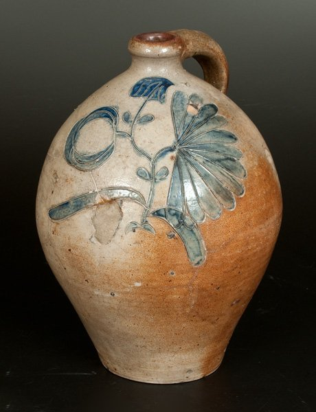 Extremely Rare and Important Ovoid Stoneware Jug with