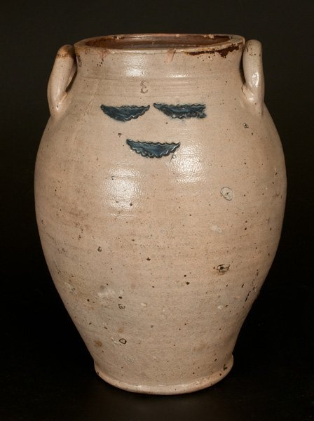 3 Gal. Stoneware Jar w/ Impressed Decoration att.