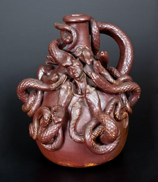 Very Important Anna Pottery 1876 Snake Jug