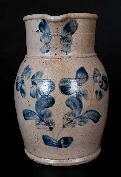 One gallon baltimore stoneware pitcher w cobalt clover for Dynasty motors baltimore md