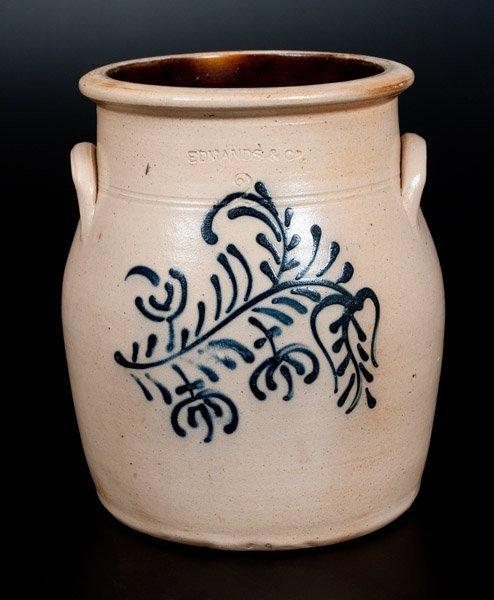 EDMANDS & CO. Stoneware Jar w/ Slip-Trailed Floral