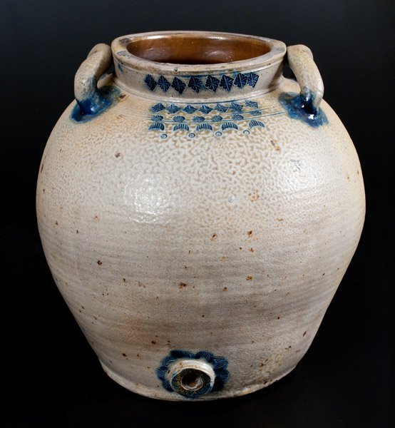 Exceptional Bulbous Stoneware Water Cooler w/ Impressed