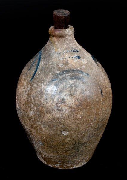 SMITH & DAY / NORWALK Decorated Ovoid Stoneware Jug