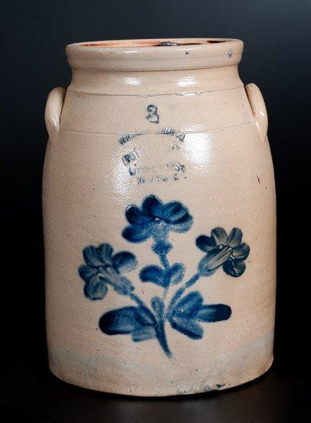 W. A. MACQUOID New York City Stoneware Jar w/ Floral