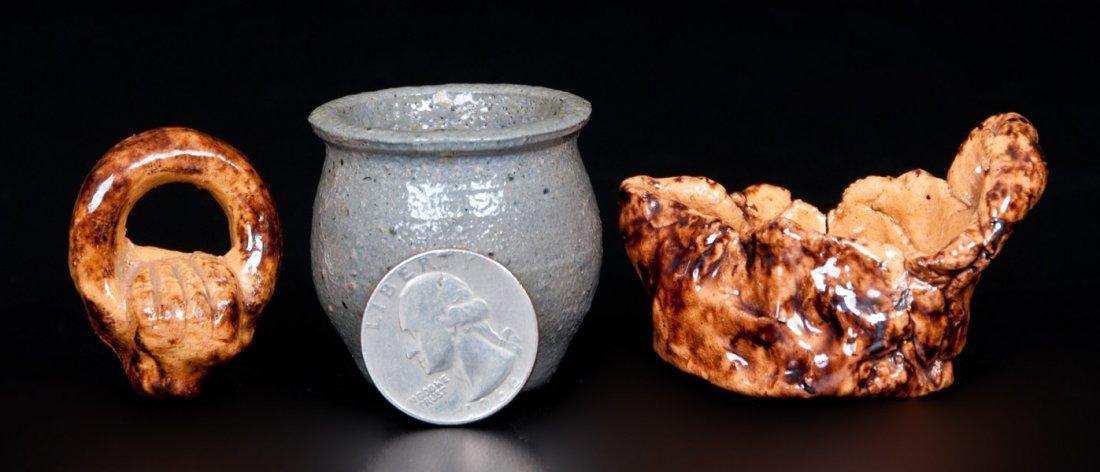 Three John Bell Redware and Stoneware Whimseys,