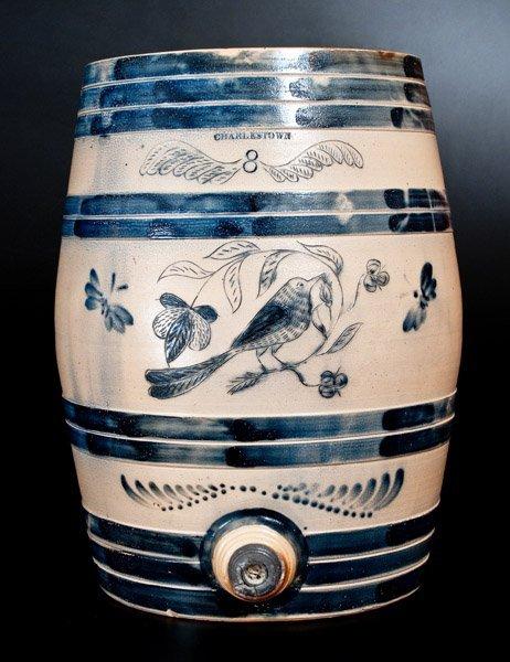 Exceptional CHARLESTOWN Stoneware Keg w/ Elaborate