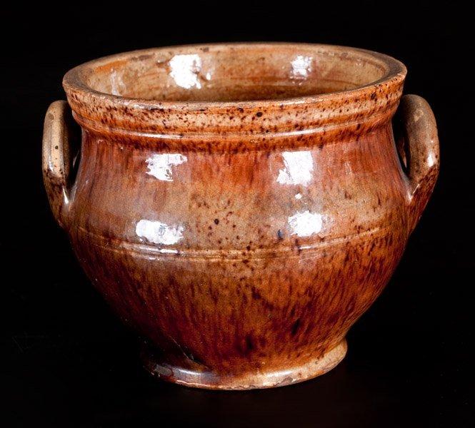 Shenandoah Valley Redware Sugar Bowl, attrib. Anthony