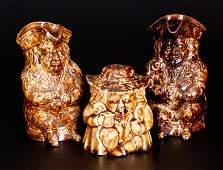 Three Rockingham-Glazed Toby Articles, Lyman, Fenton &
