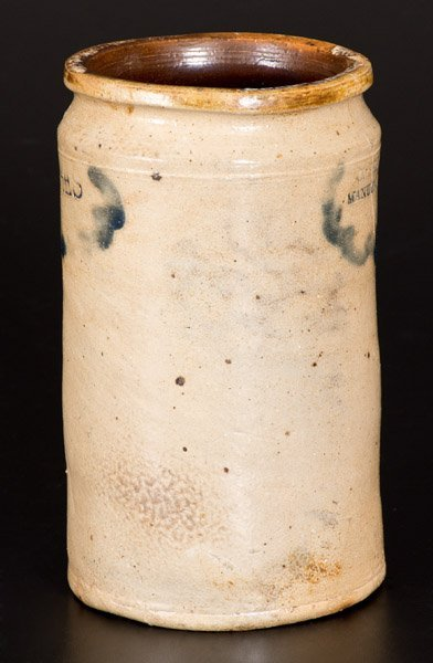 Rare C. CROLIUS / MANUFACTURER Manhattan Stoneware Jar - 3