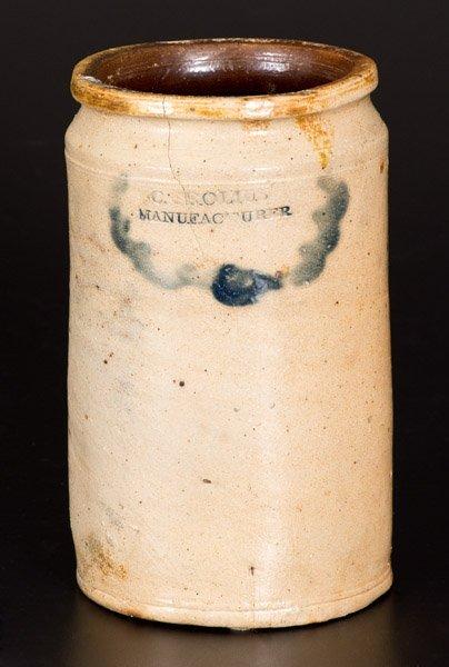 Rare C. CROLIUS / MANUFACTURER Manhattan Stoneware Jar - 4