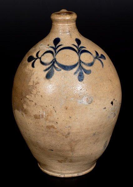 Rare Two-Gallon Stoneware Jug w/ Incised