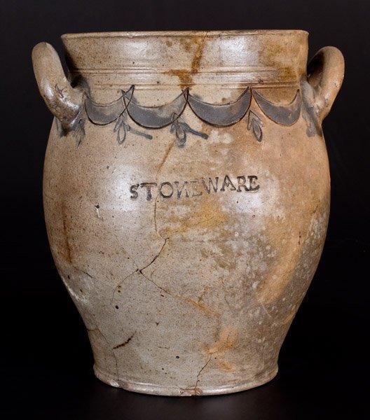 COMMERAWS STONEWARE (Thomas Commeraw, New York) Jar w/ - 2