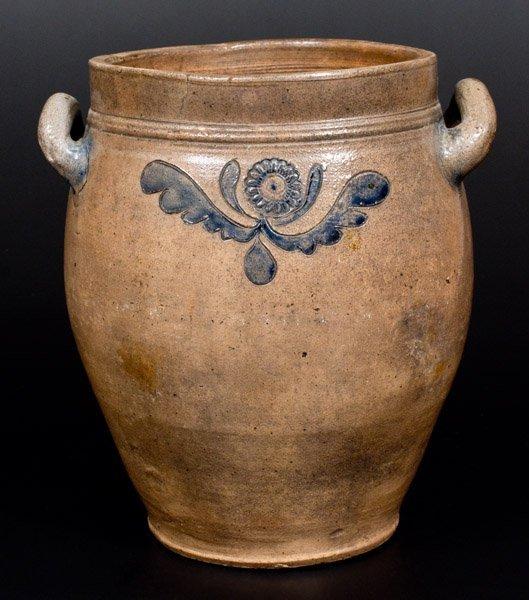 C. CROLIUS / MANHATTAN-WELLS / NEW-YORK Stoneware Jar