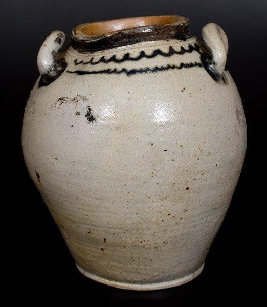 Four-Gallon Open-Handled Manhattan Stoneware Jar with