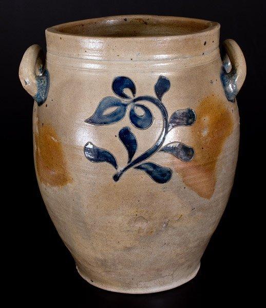 Three-Gallon New York City Stoneware Jar w/ Incised